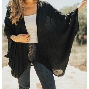 CarlyJean Los Angeles sold out Avaya Kimono Black